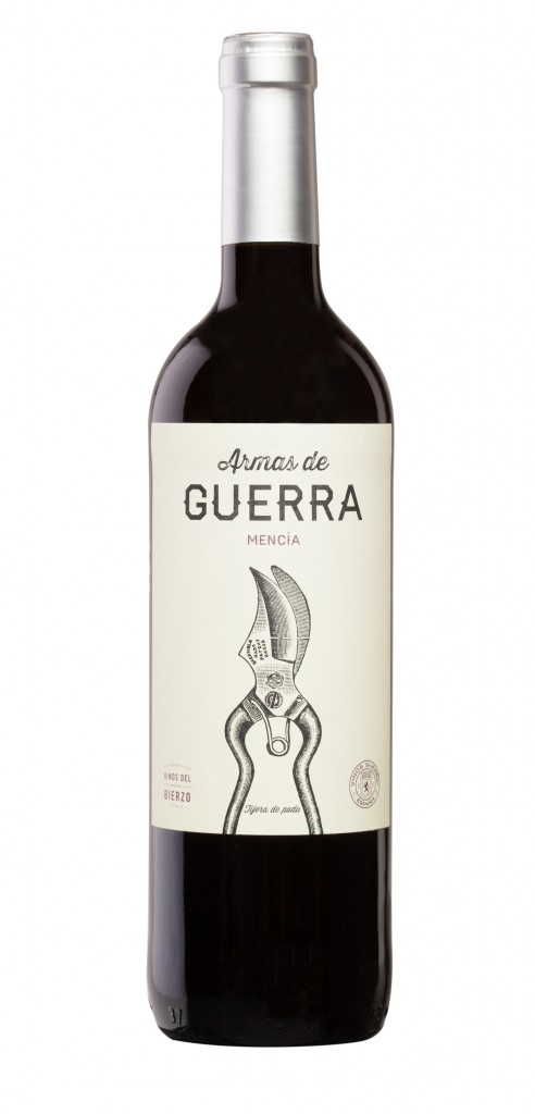 Armas de Guerra Mencia wine bottle design