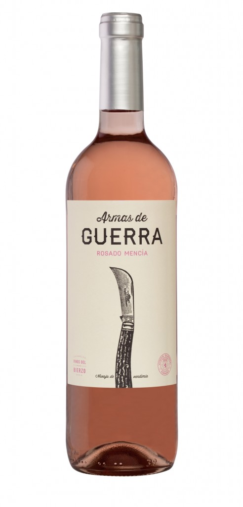 Armas de Guerra Rosé wine bottle design