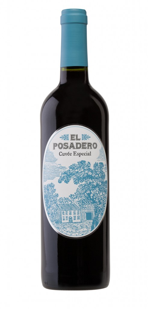 El Posadero Cuvee Especial wine bottle design