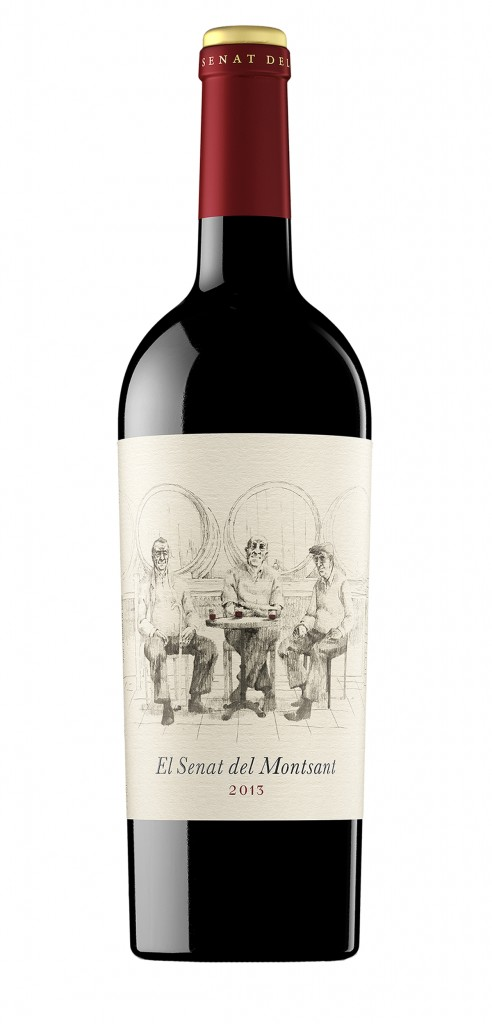 El Senat del Montsant wine bottle design