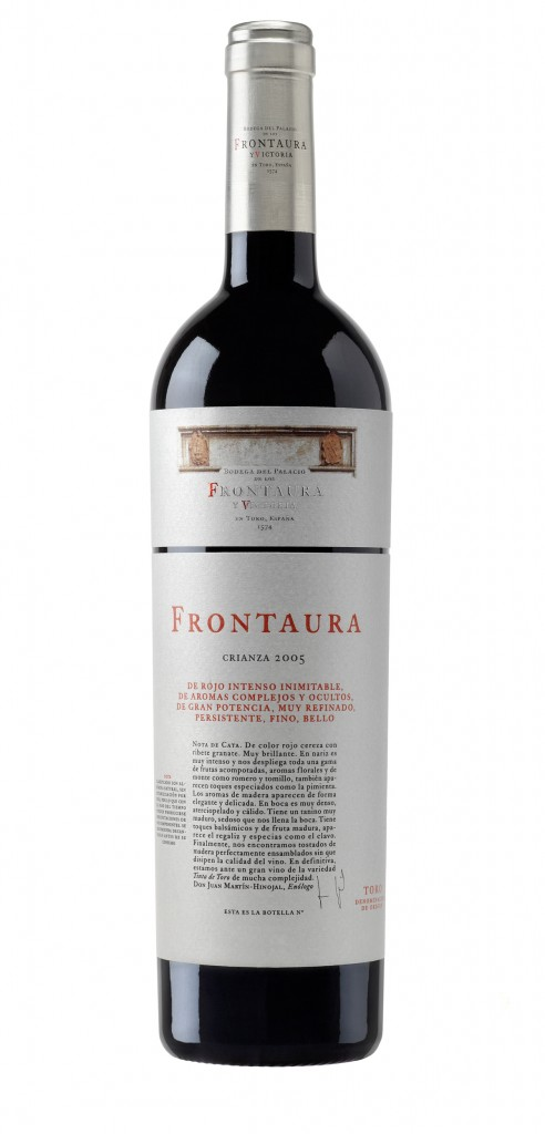 Frontaura wine bottle design