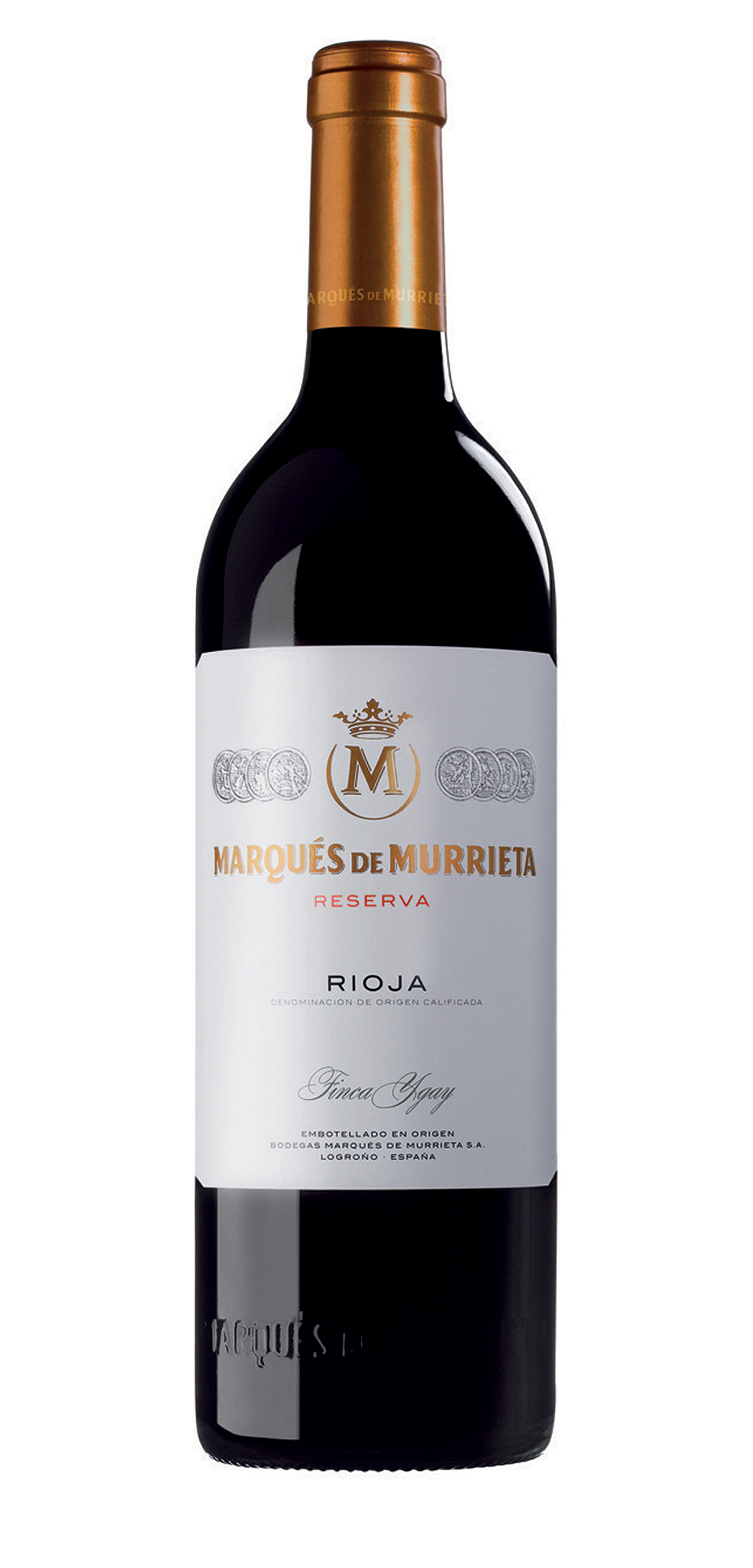 Marques de Murrieta Reserva wine bottle design