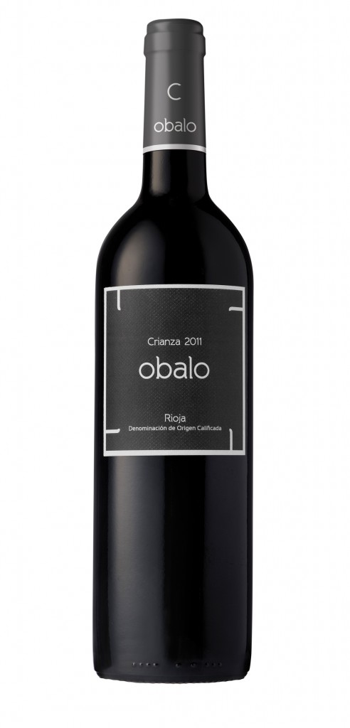 Obalo Crianza wine bottle design