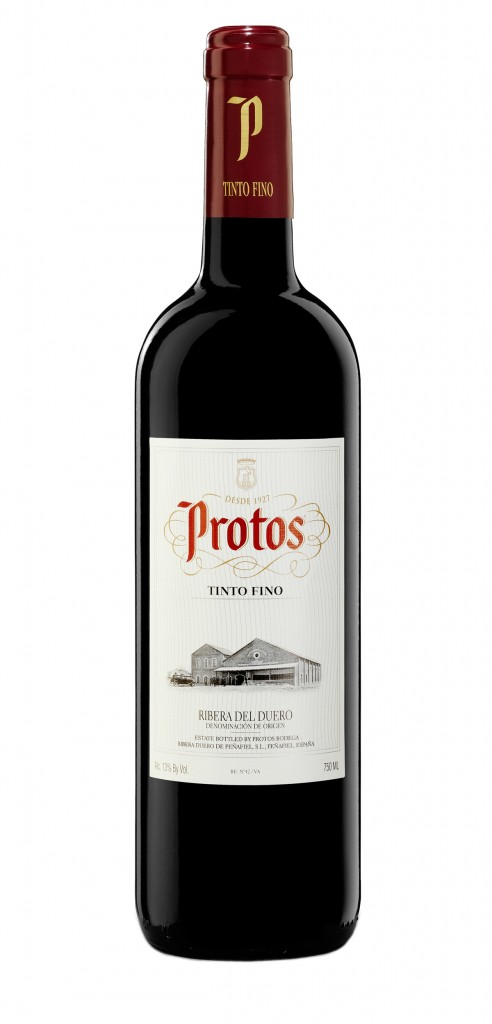 Protos Tinto Fino wine bottle design