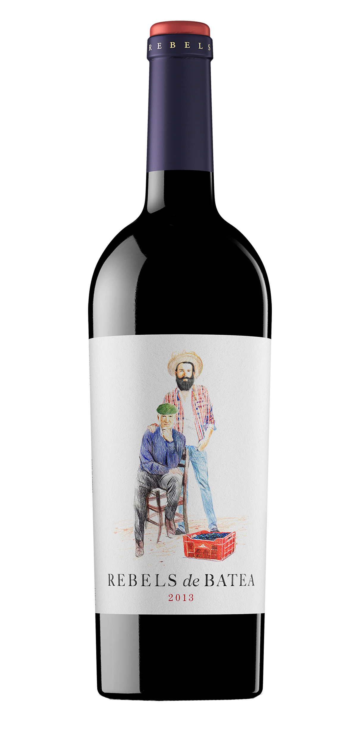 Rebels de Batea El Tinto wine bottle design
