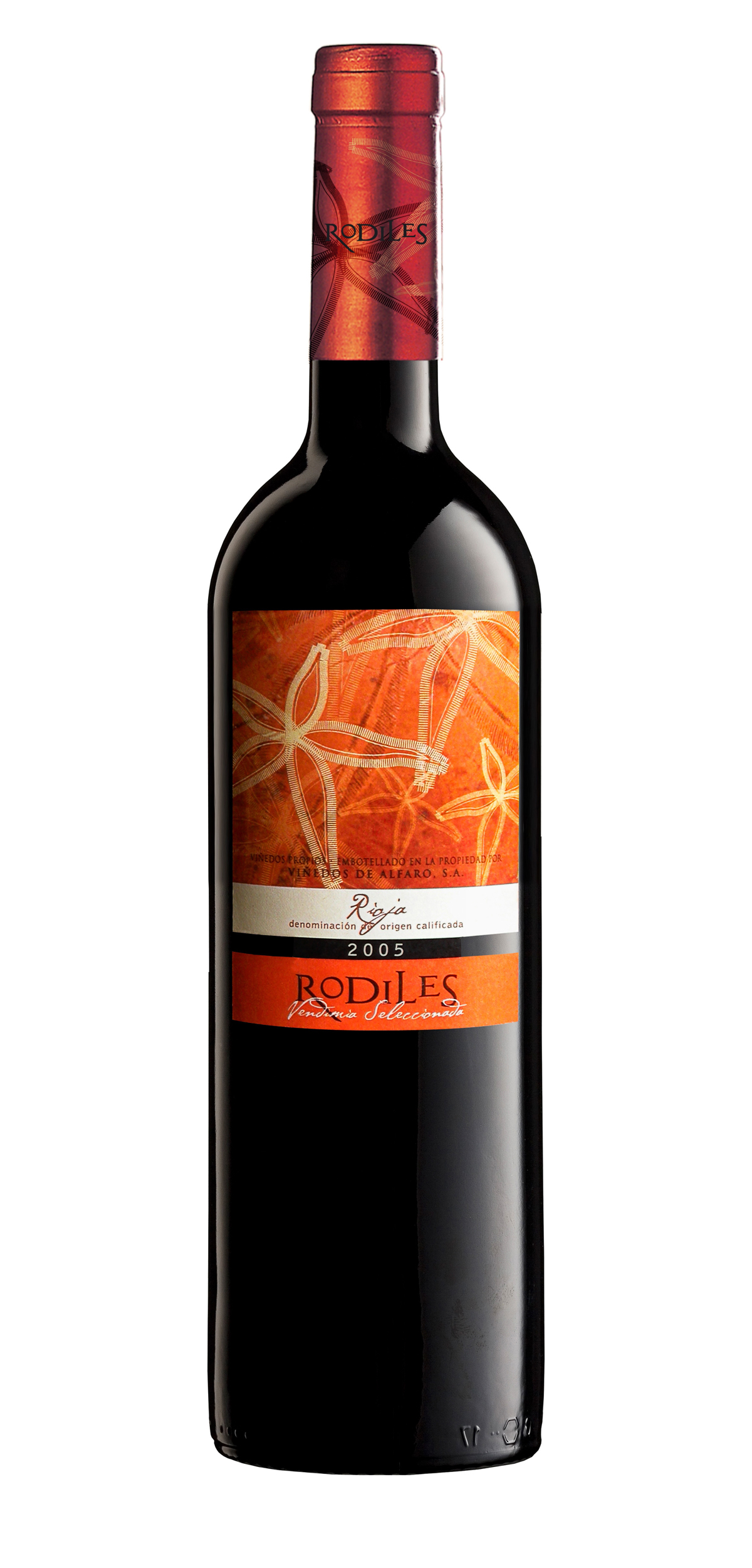 Rodiles wine bottle design