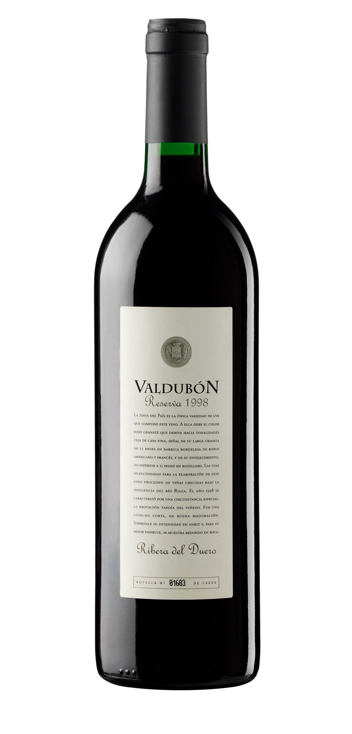 Valdubon Reserva wine bottle design