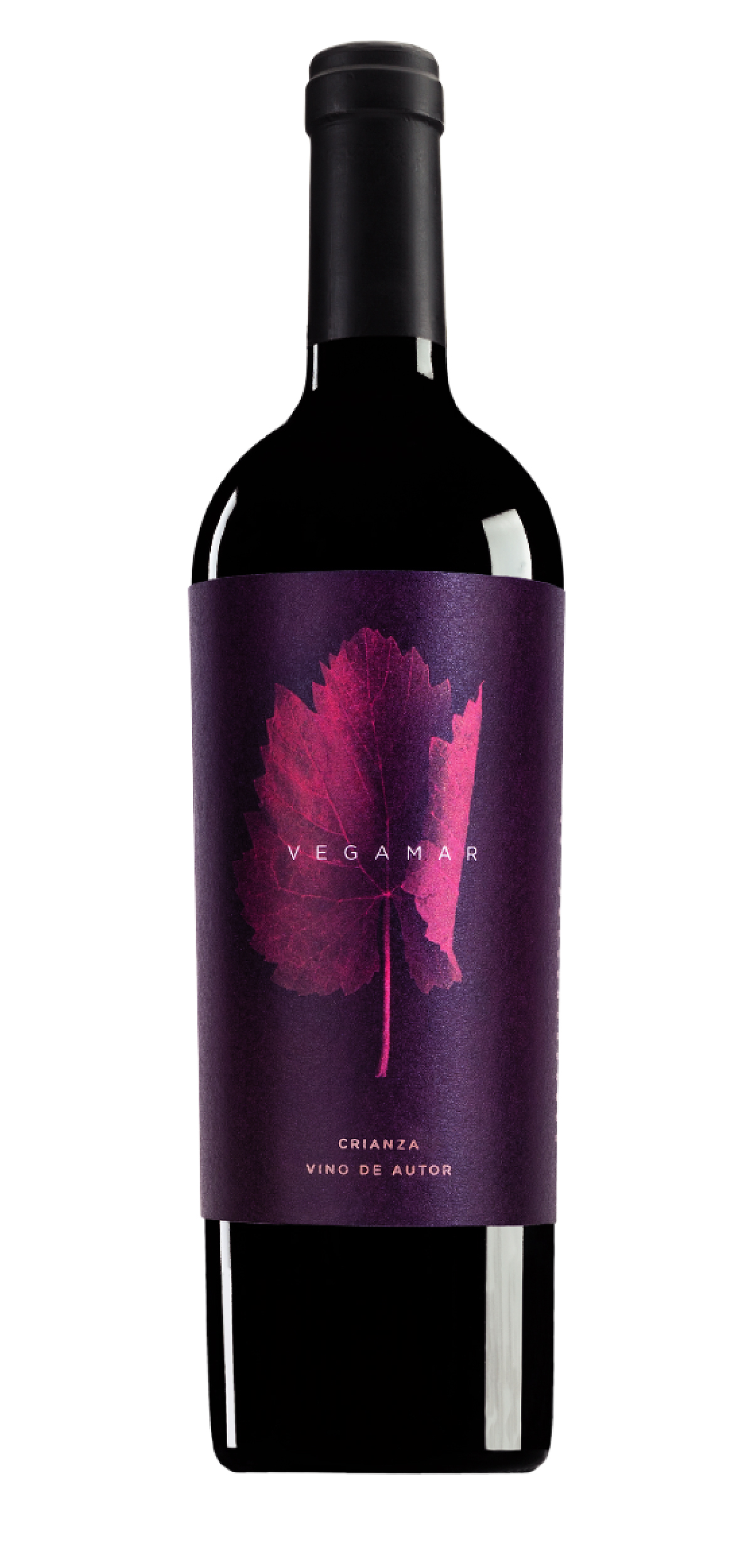 Vegamar Crianza Vino Autor wine bottle design