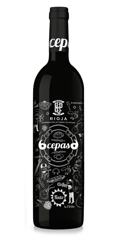 6 Cepas wine bottle design