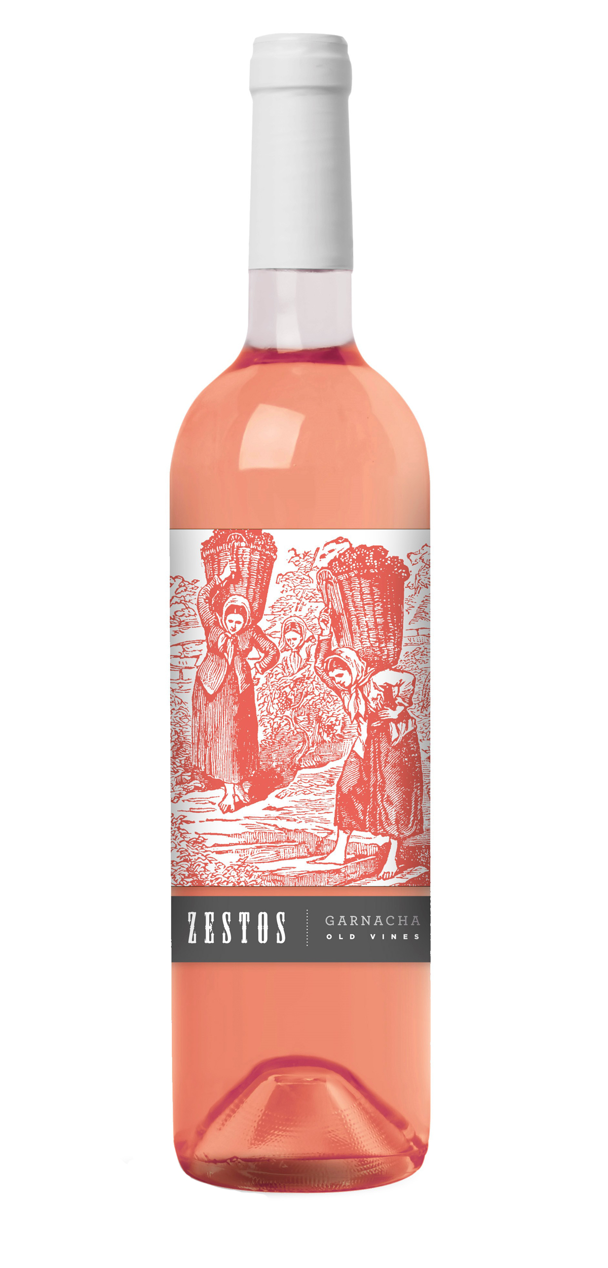 Zestos Garnacha Rosé wine bottle design