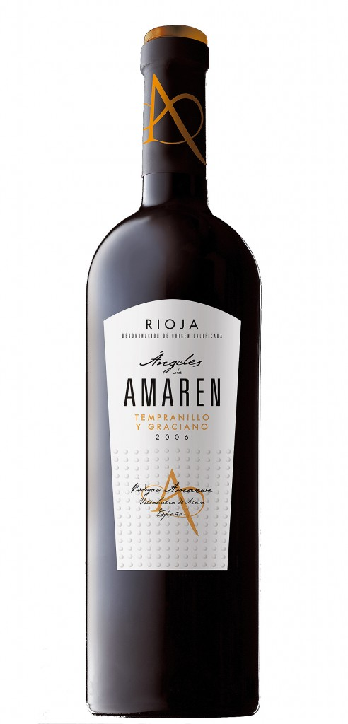 Angeles de Amaren wine bottle design