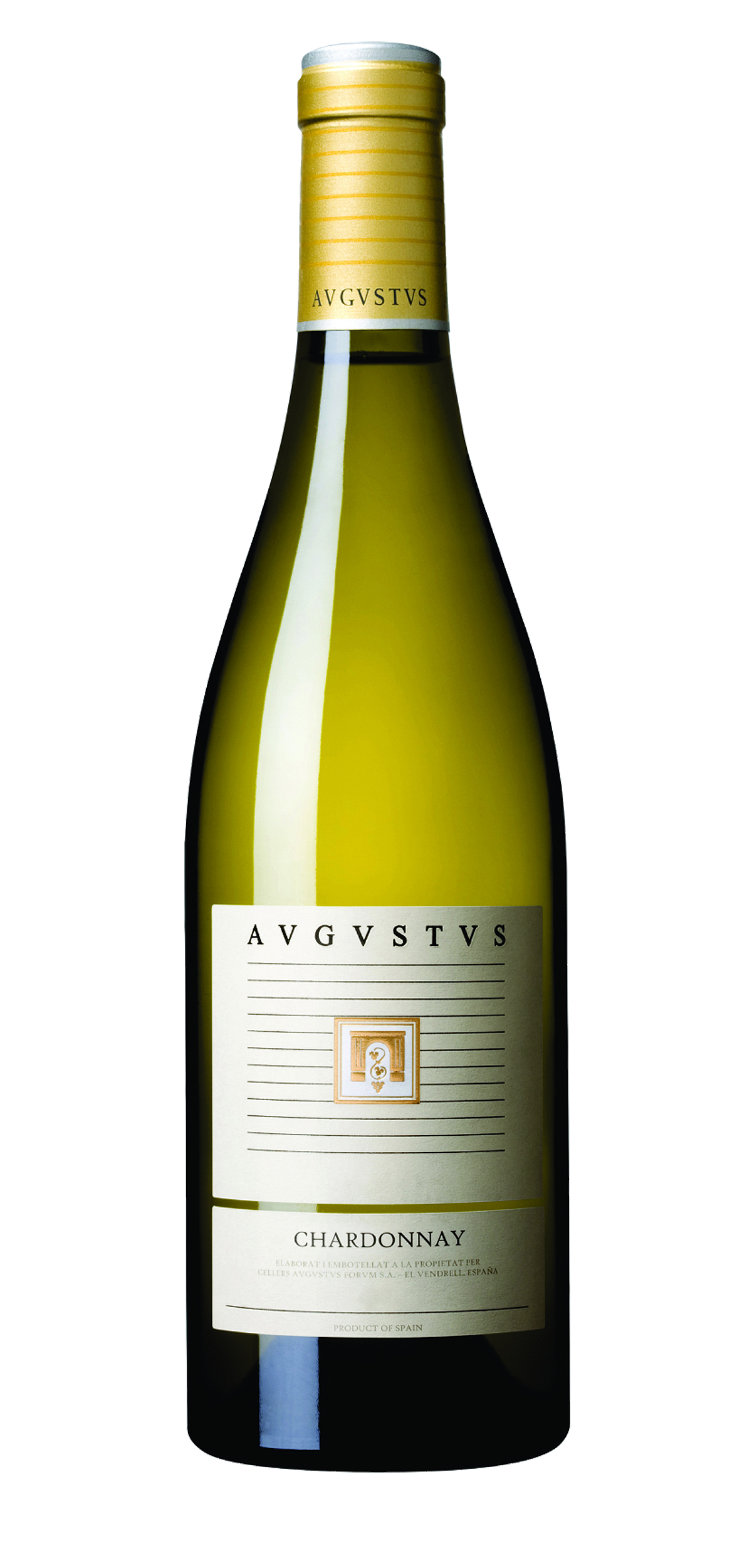 Augustus Chardonnay wine bottle design