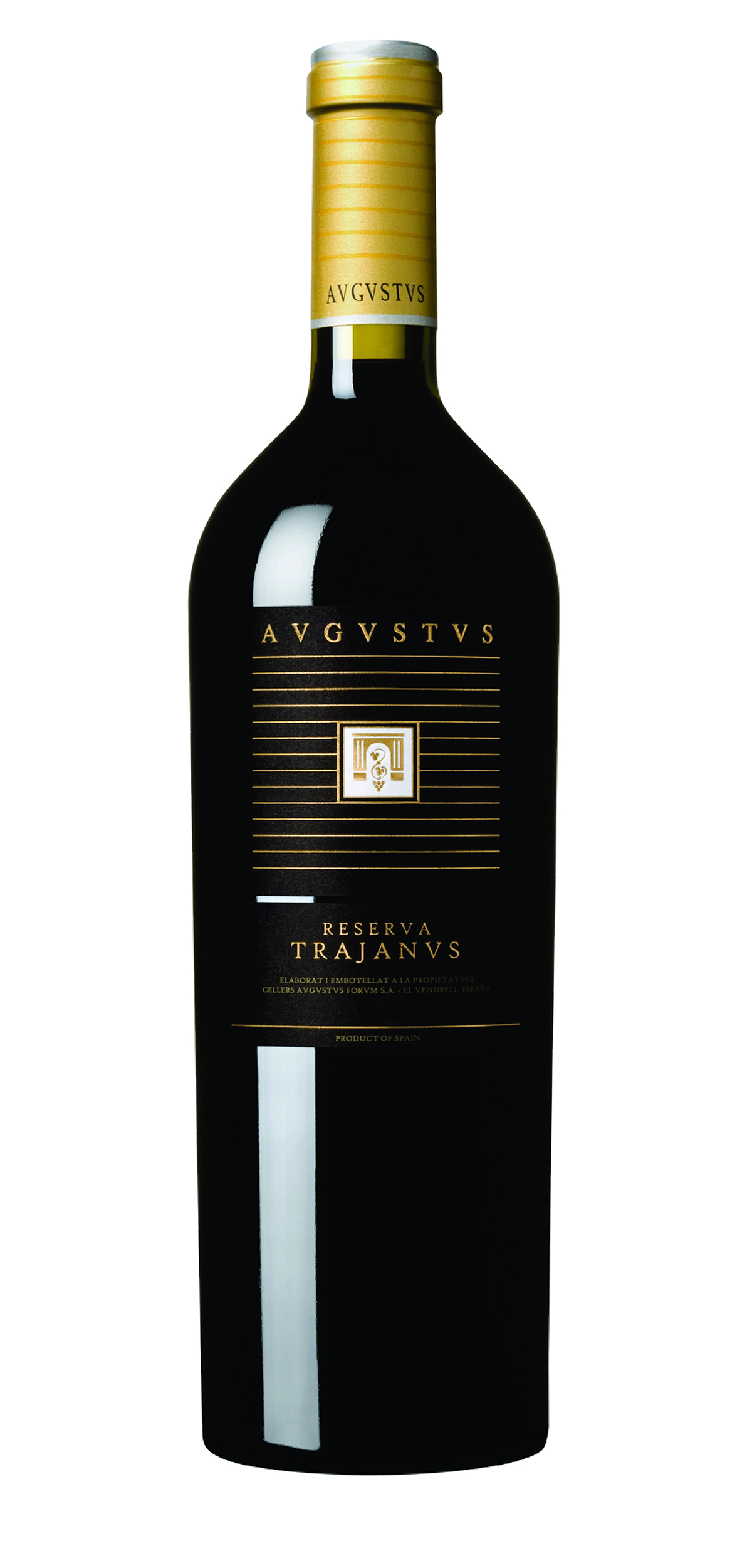 Trajanus wine bottle design