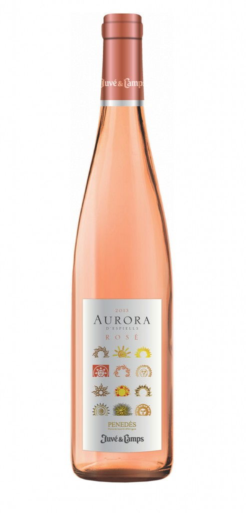 Aurora D'Espiells Rosé wine bottle design