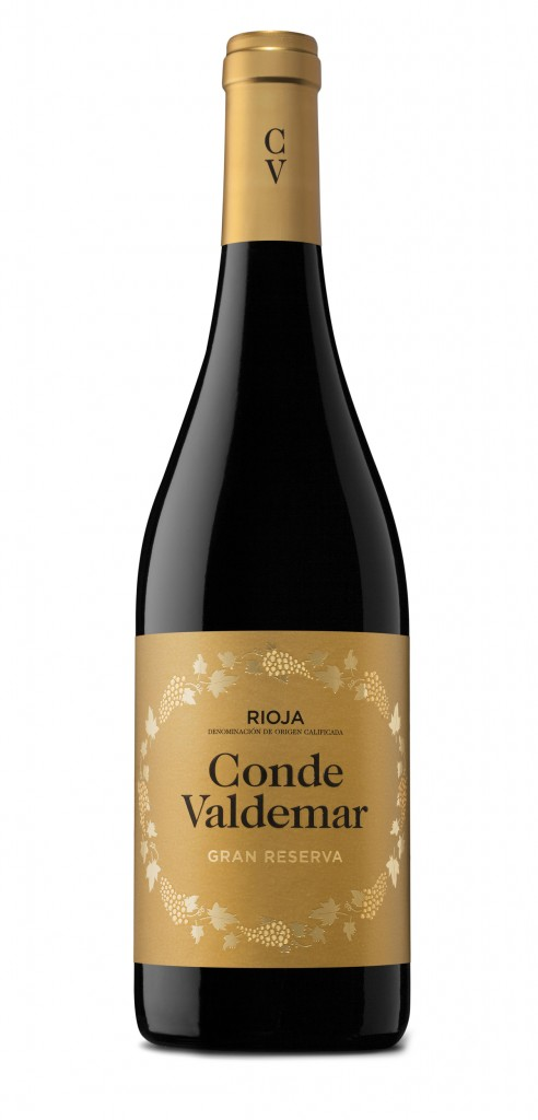 Conde Valdemar wine bottle design