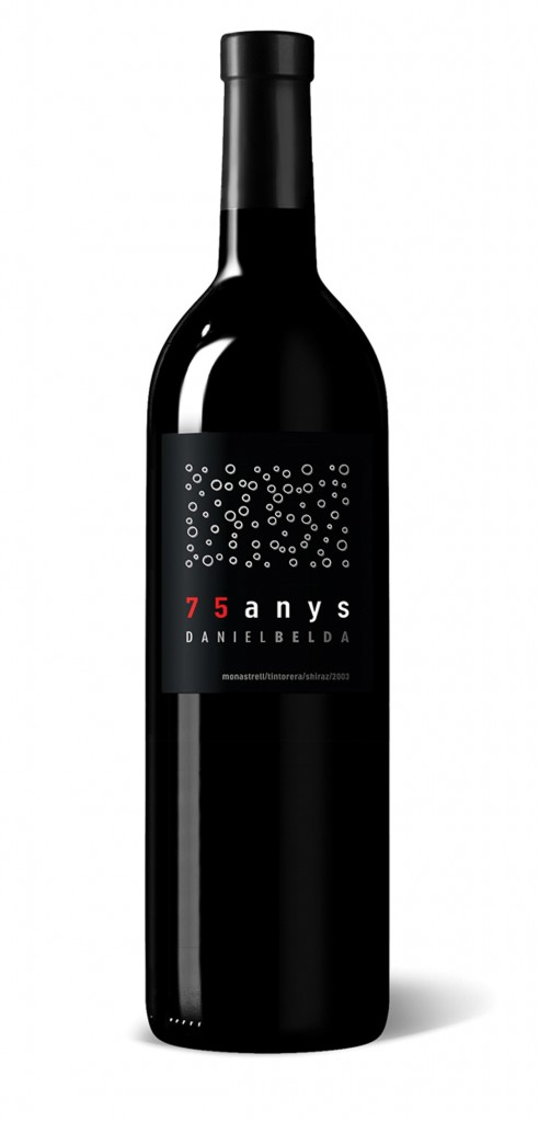 Daniel Belda 75 wine bottle design