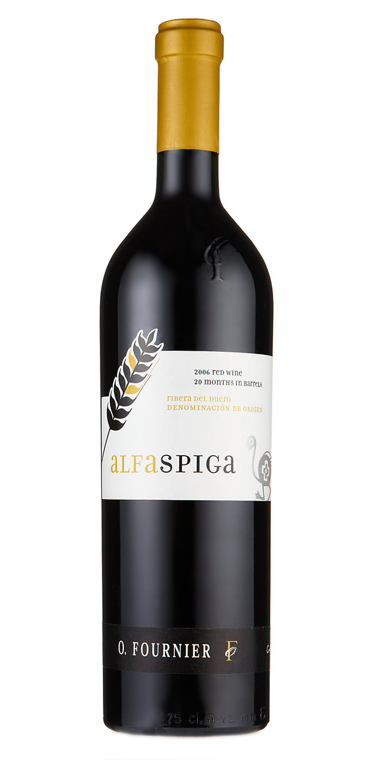 Alfa Spiga wine bottle design