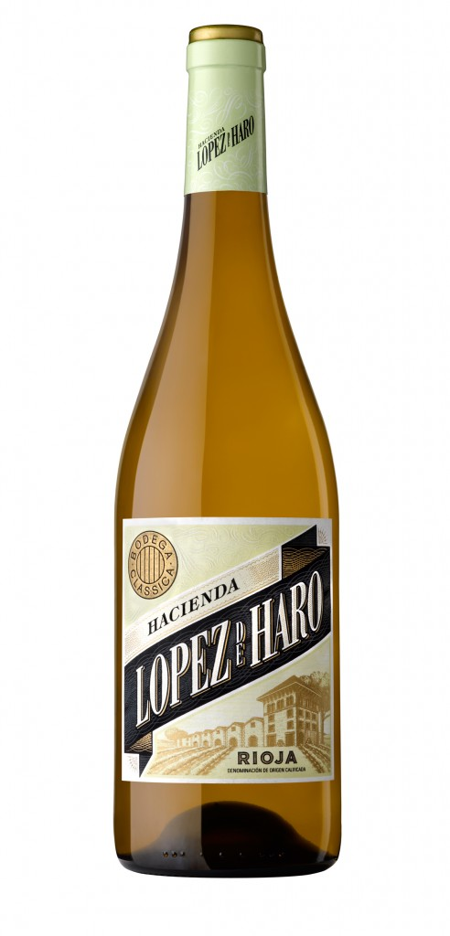 Lopez de Haro Blanco wine bottle design