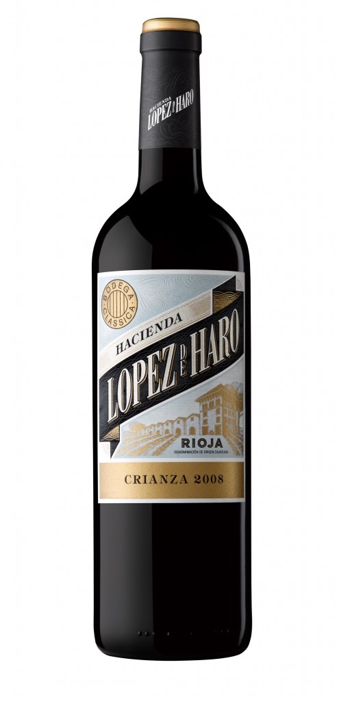 Lopez de Haro Crianza wine bottle design