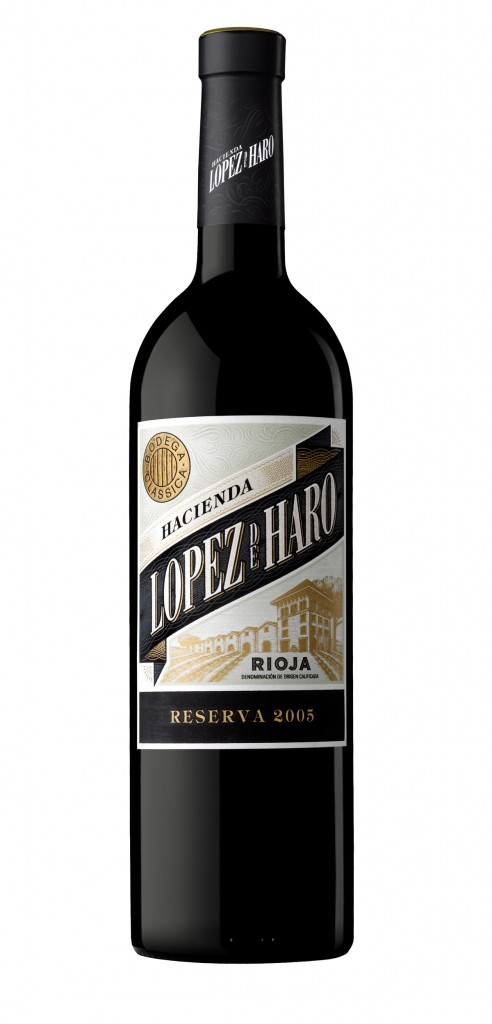 Lopez de Haro Reserva wine bottle design