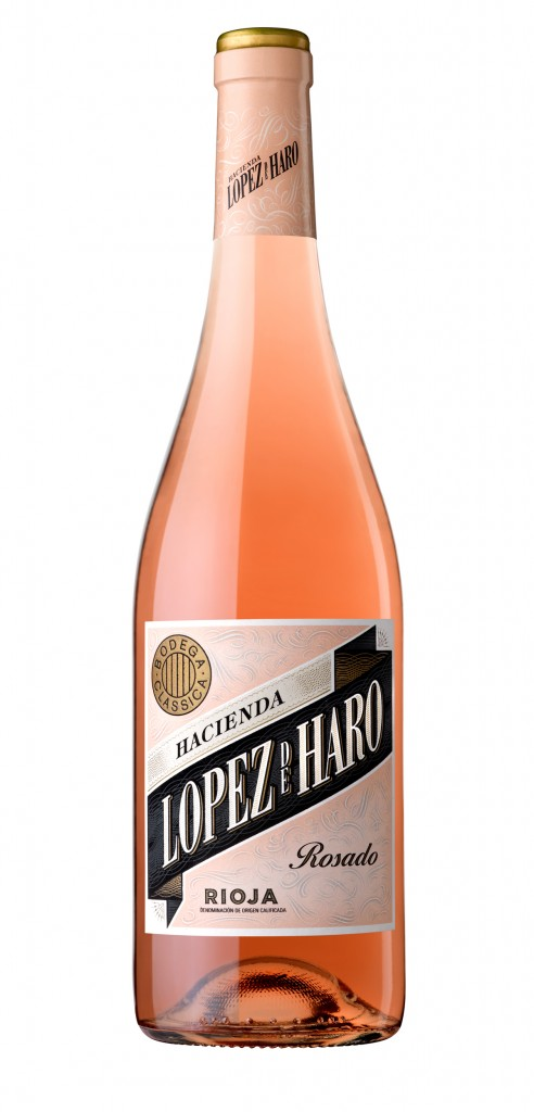 Lopez de Haro Rosado wine bottle design
