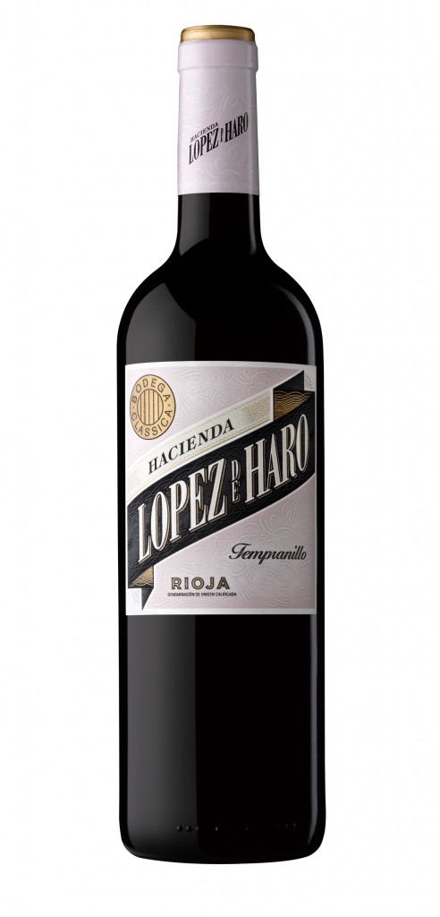 Lopez de Haro Tempranillo wine bottle design
