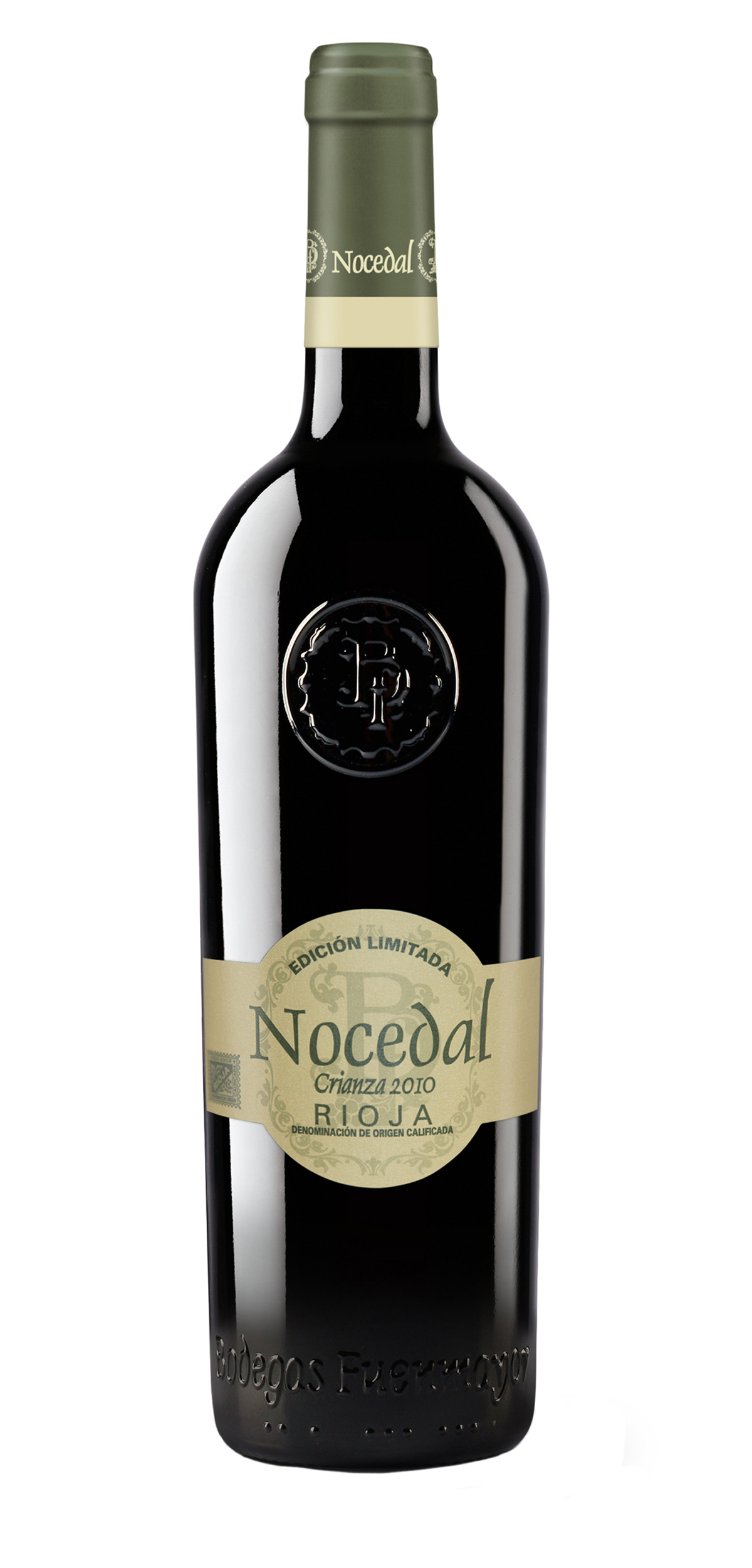 Nocedal Crianza wine bottle design