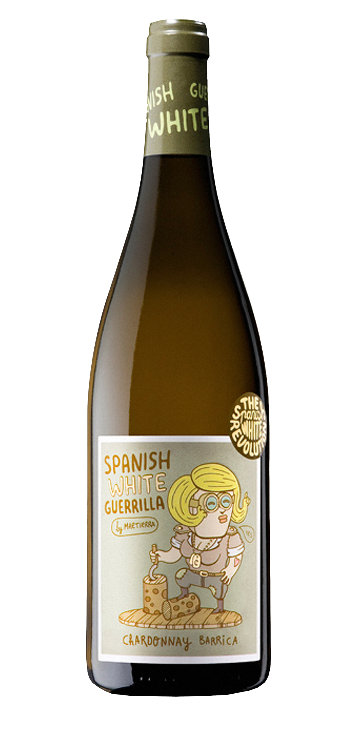 SWG Chardonnay Barrica wine bottle design