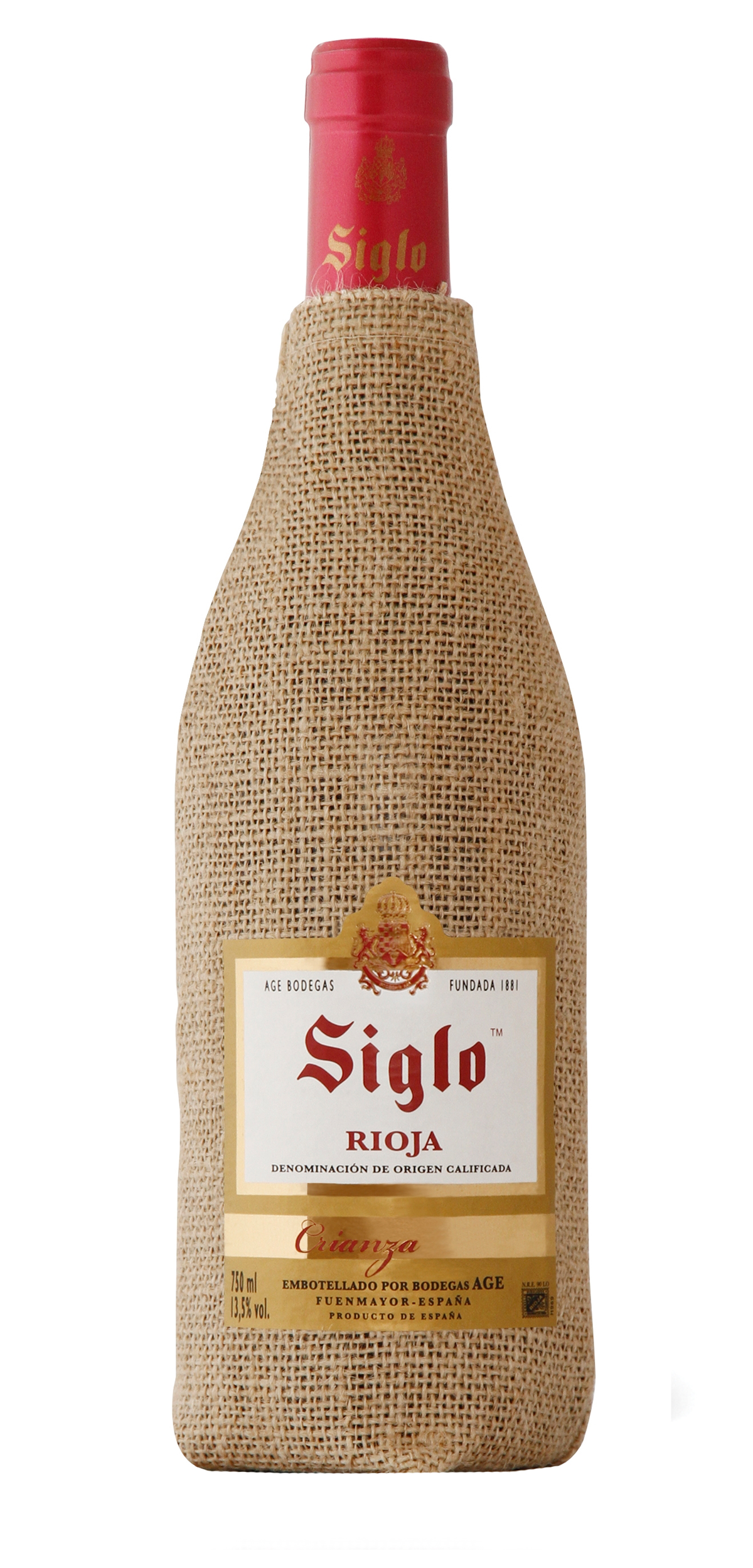 Siglo wine bottle design