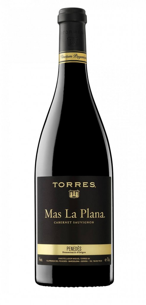 Mas La Plana wine bottle design