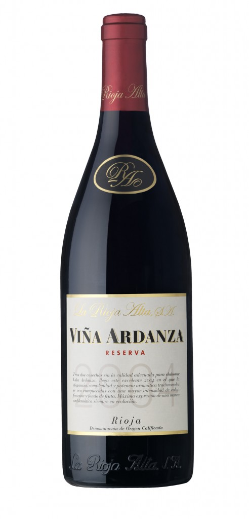 Viña Ardanza wine bottle design