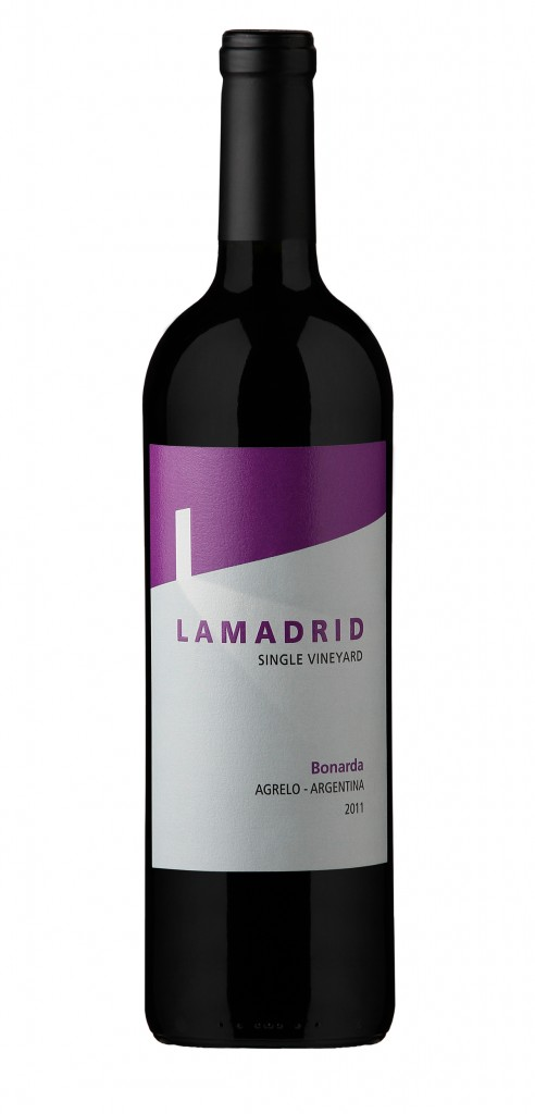 Lamadrid Bonarda wine bottle design