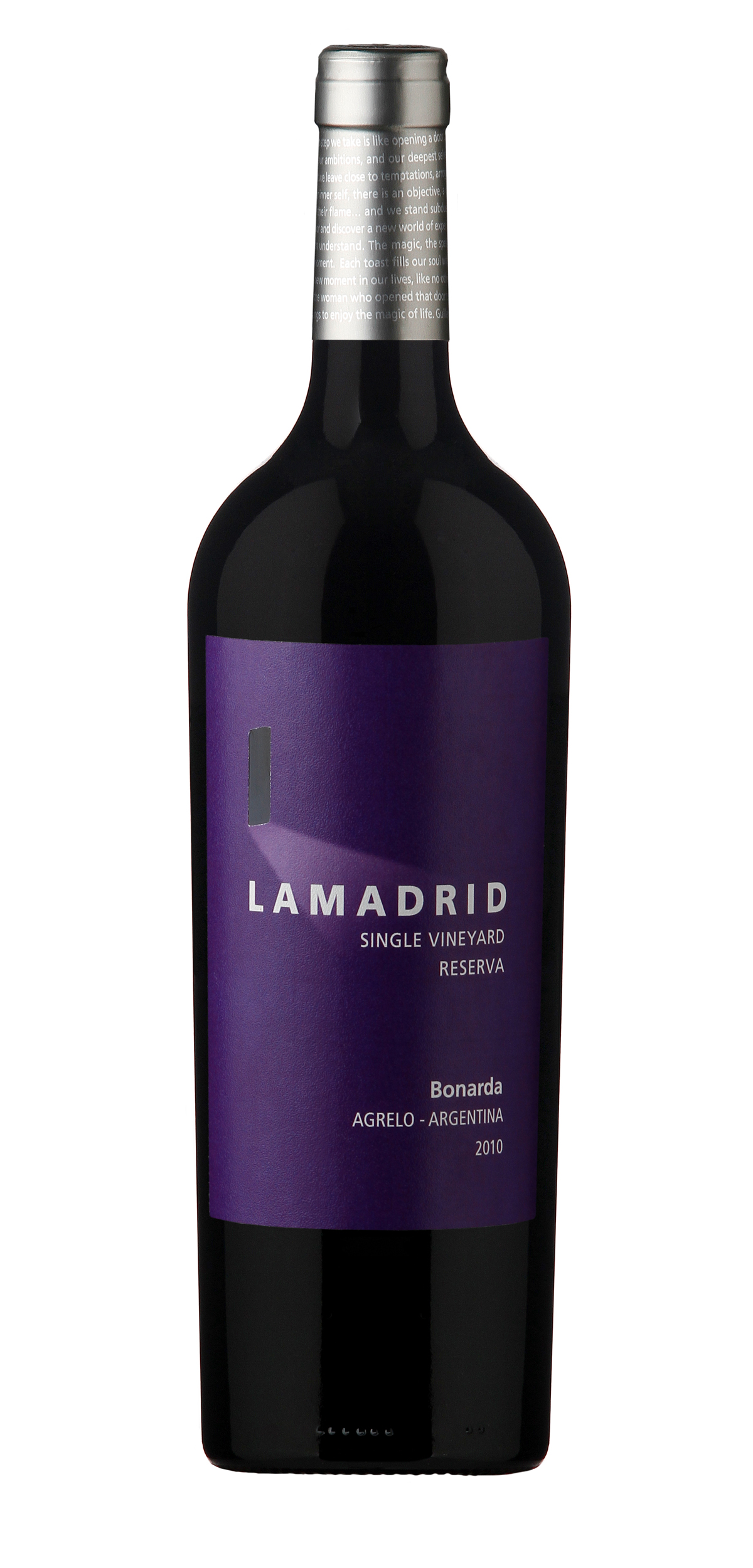 Lamadrid Bonarda Reserva wine bottle design