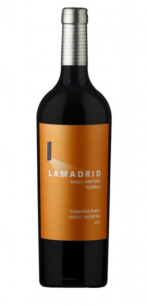 Lamadrid Cabernet Franc wine bottle design