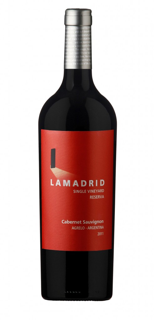 Lamadrid Reserva wine bottle design