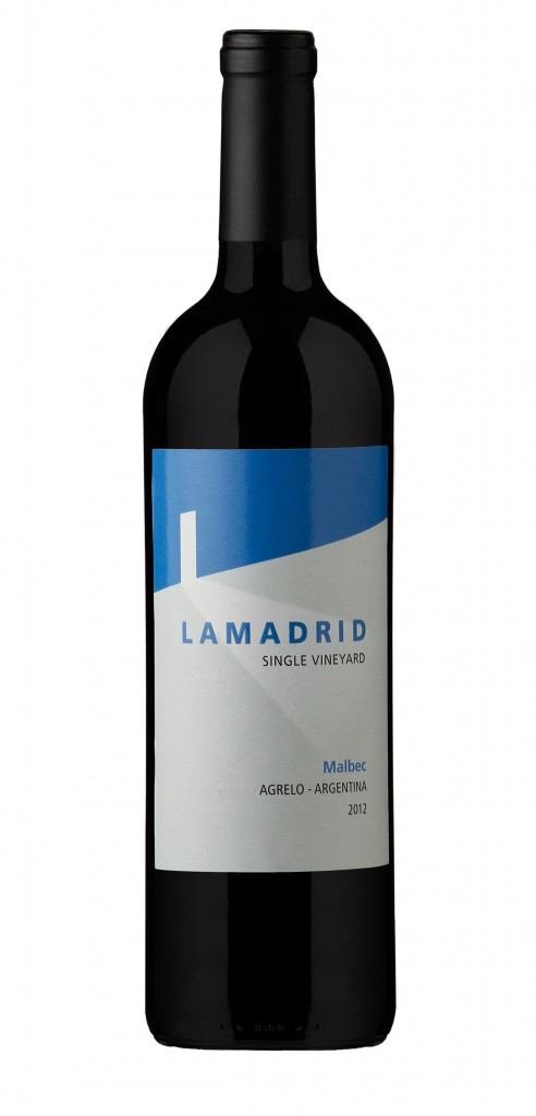 Lamadrid Malbec wine bottle design