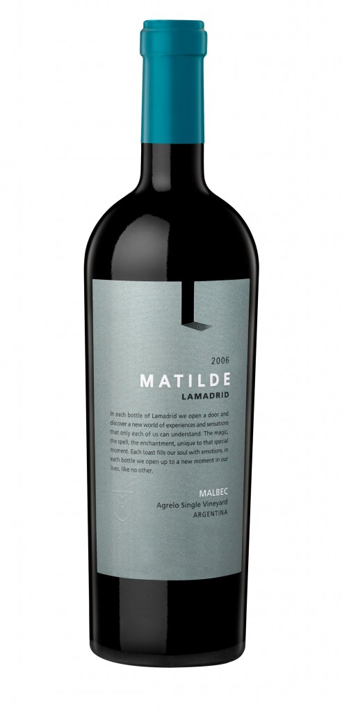 Lamadrid Matilde wine bottle design