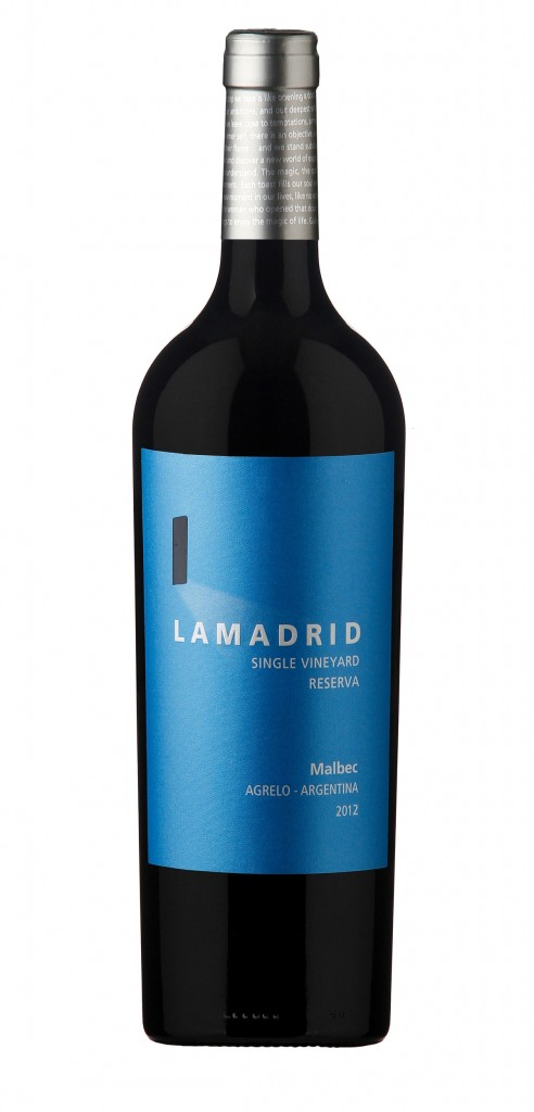 Lamadrid Malbec Reserva wine bottle design