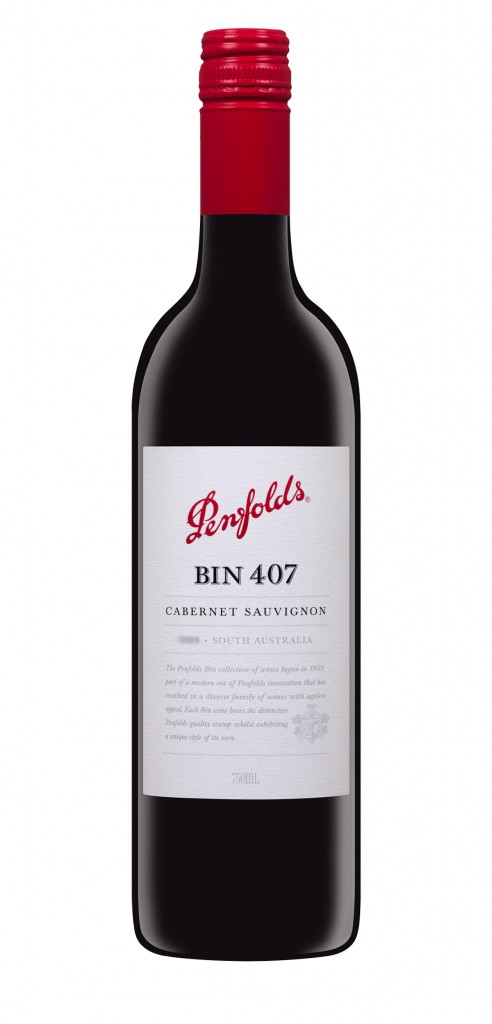 Penfold Bin 407 wine bottle design