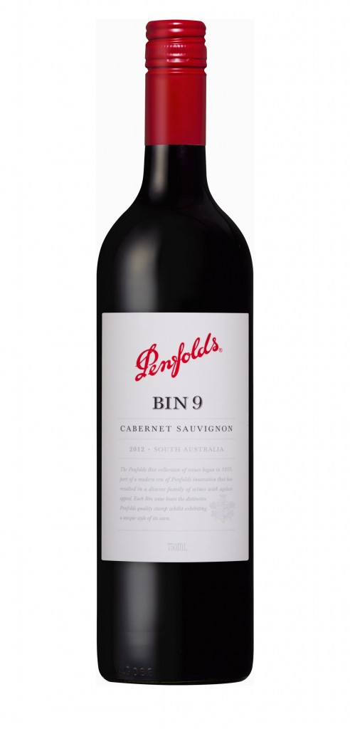 Penfolds Bin 9 wine bottle design
