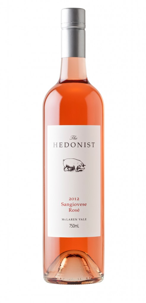 The Hedonist Sangiovese wine bottle design