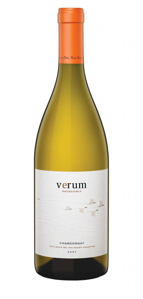 Verum Chardonnay wine bottle design