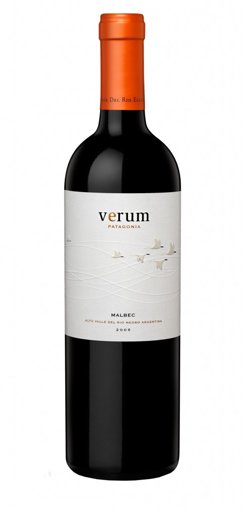 Verum Malbec wine bottle design