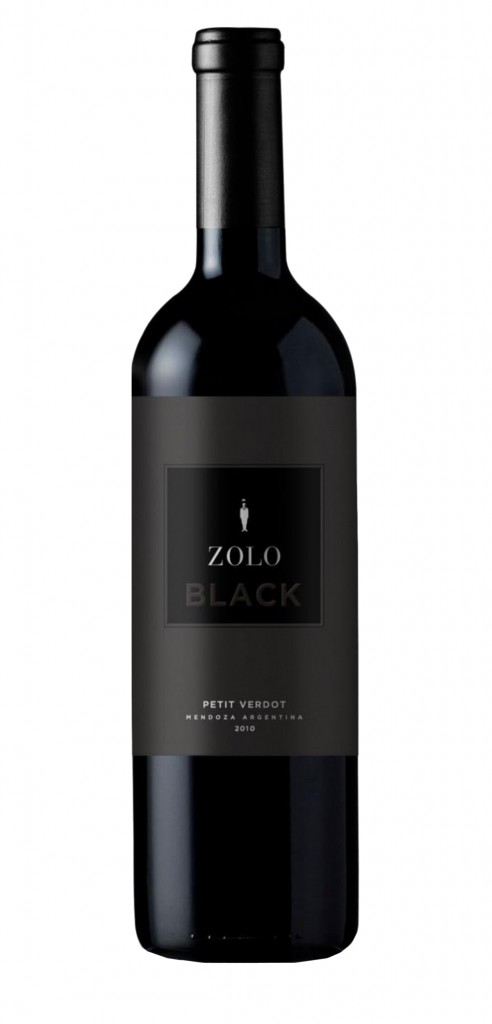 Zolo Petit Verdot Black wine bottle design