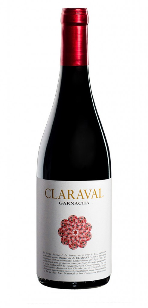 Claraval Garnacha wine bottle design