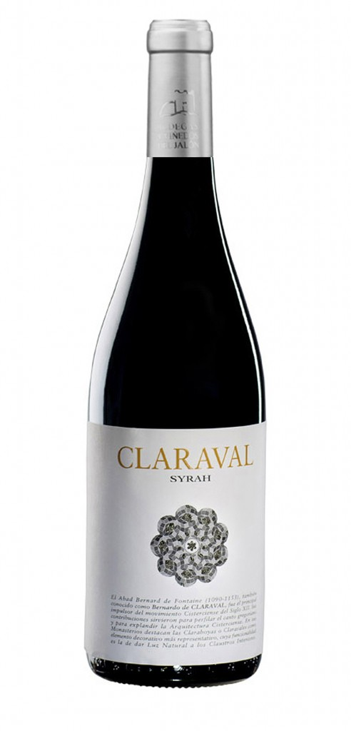 Claraval Syrah wine bottle design
