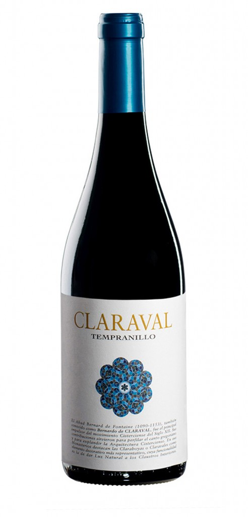 Claraval Tempranillo wine bottle design