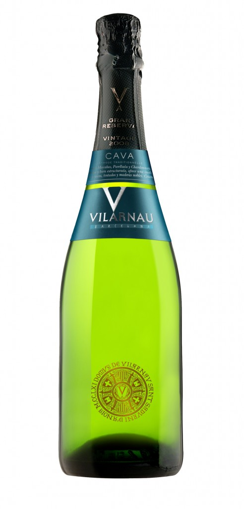 Vilarnau Gran Reserva wine bottle design