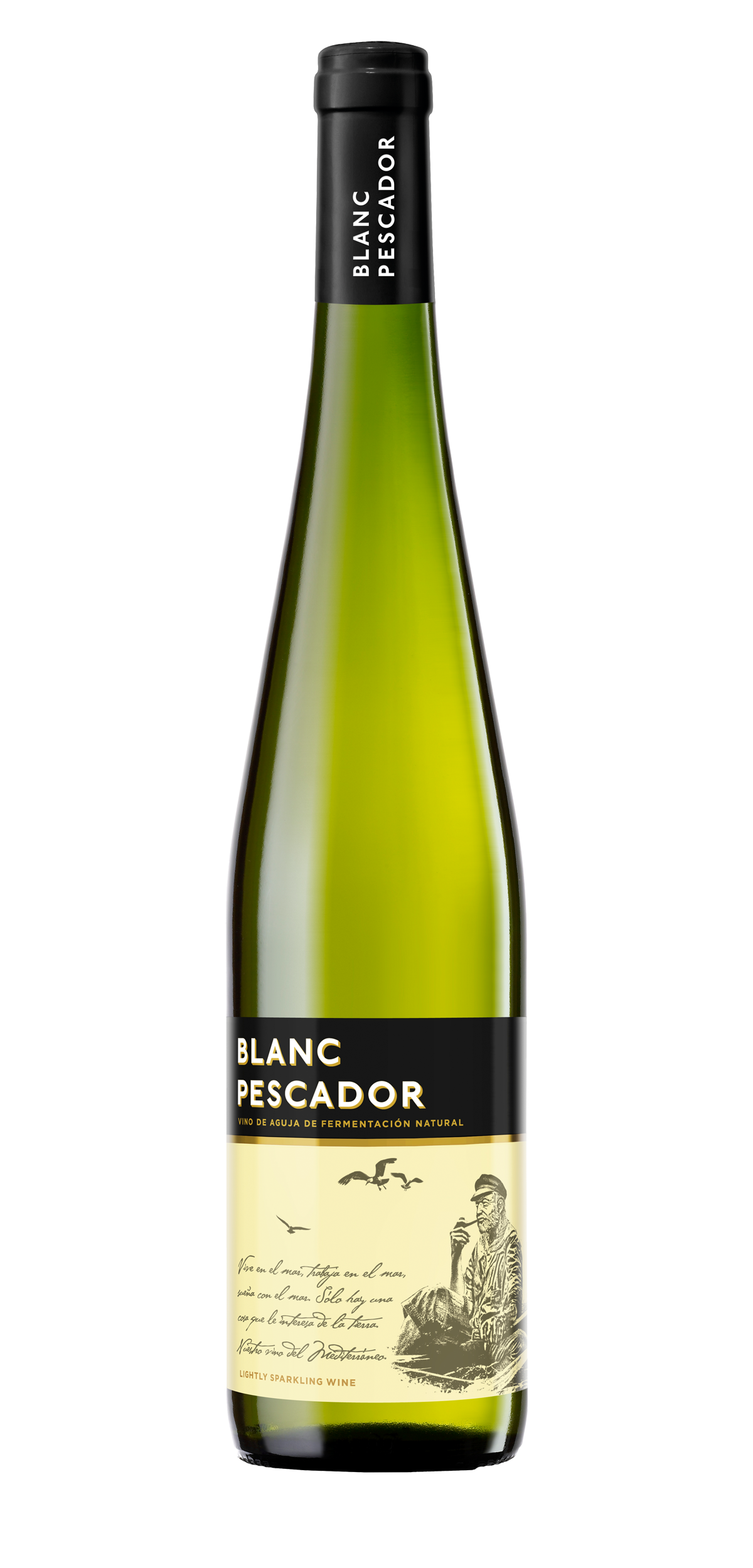 Blanc Pescador wine bottle design