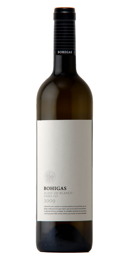 Bohigas Blanc de Blancs wine bottle design